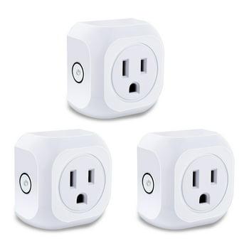 3-Pack Smart Plug Wifi Enabled Mini Outlets Smart Socket