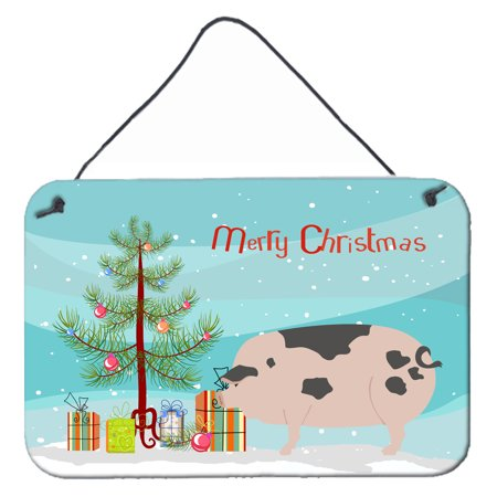 Gloucester Old Spot Pig Christmas Wall or Door Hanging Prints BB9307DS812