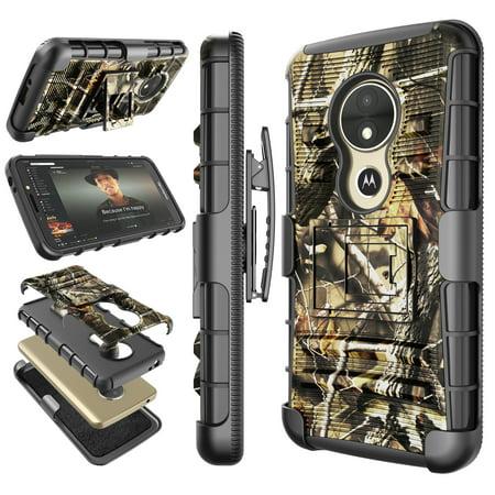 pretty nice 635a0 58d4e Motorola Moto E5 Play / E5 Plus / E5 Supra / E5 Cruise Cases Cover, Tekcoo  Shock Absorbing Locking Clip Defender Heavy Kickstand Armor Cases Cover For  ...