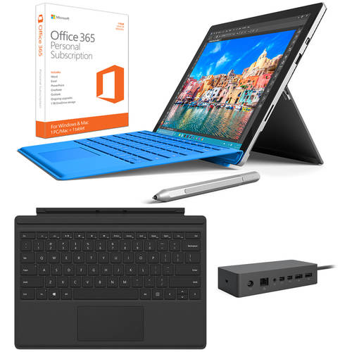 "Microsoft Surface Pro 4 12.3"" Tablet Intel Core i7 8GB/256GB Bundle"
