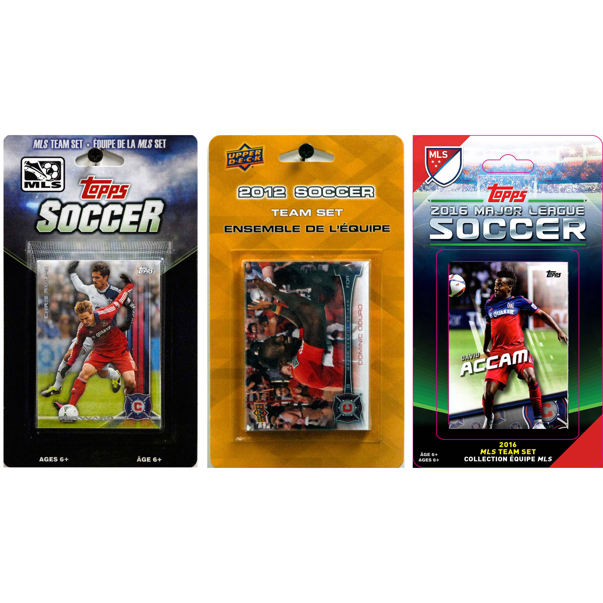 C&I Collectables MLS Chicago Fire 3 Different Licensed Trading Card Team Sets