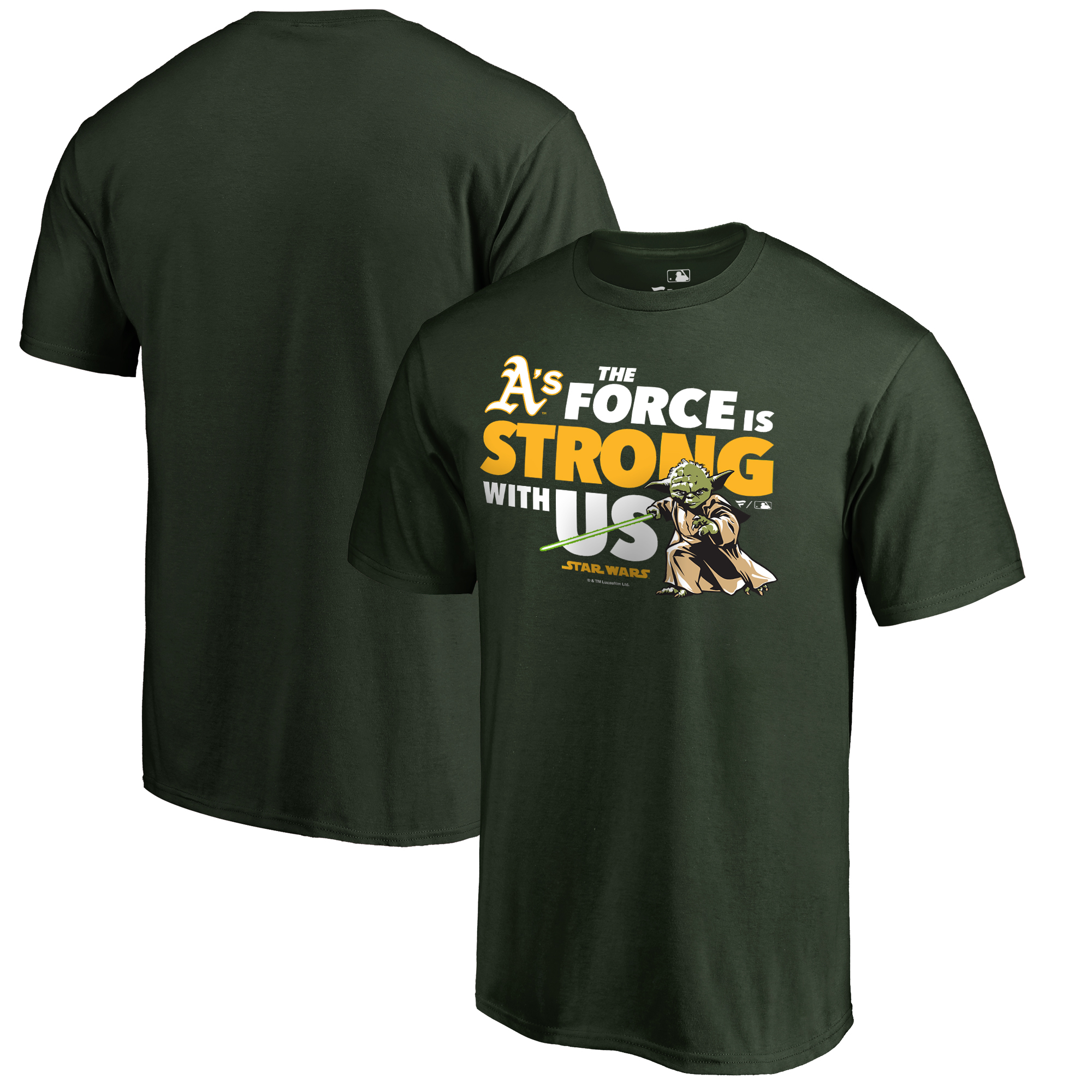Oakland Athletics Fanatics Branded Star Wars Jedi Strong T-Shirt - Green
