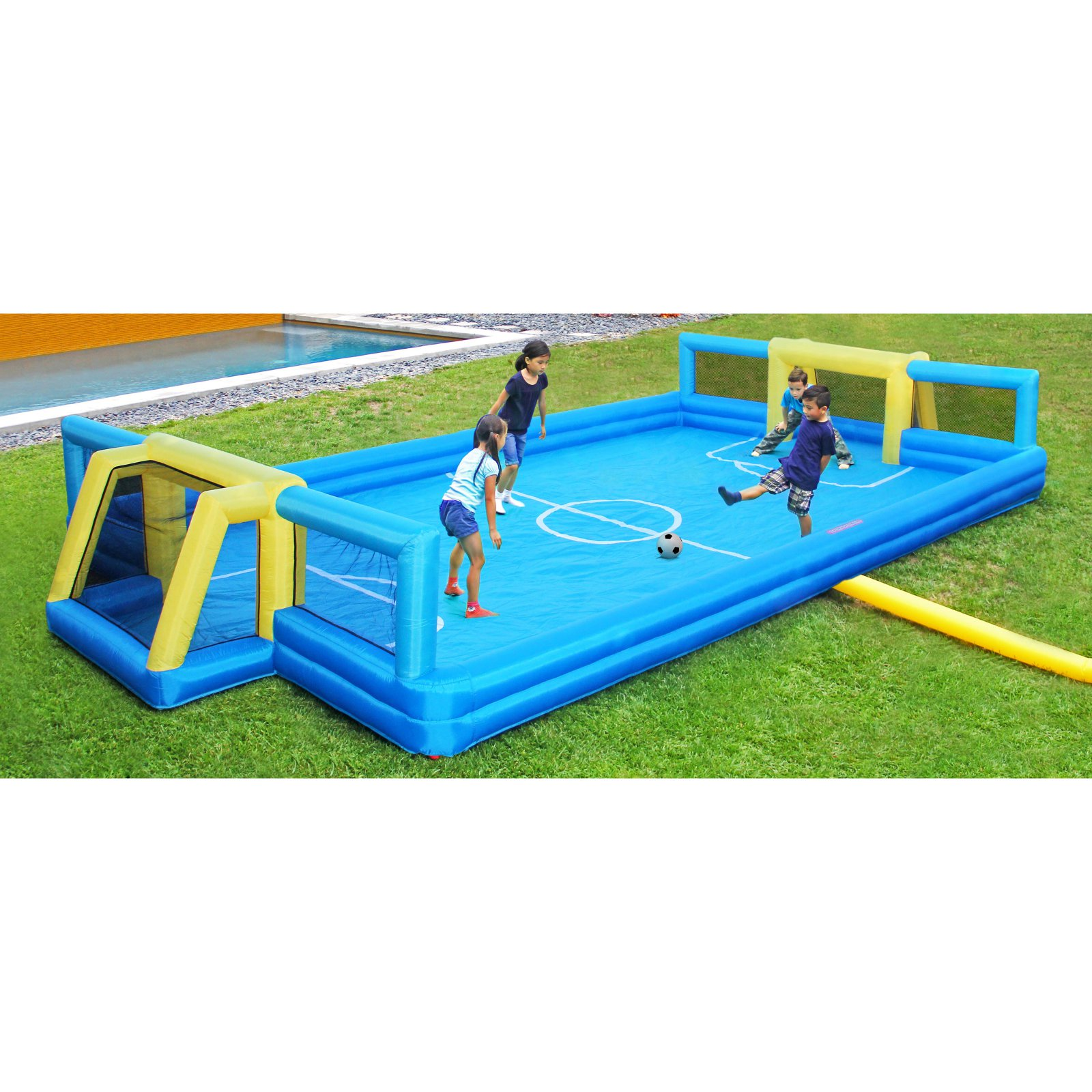 Sportspower Inflatable Soccer Field with 2 Soccer Goals by Natus Inc