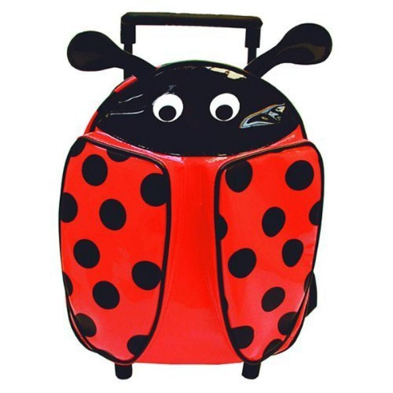 Sassafras Red Ladybug Roller Backpack Bag