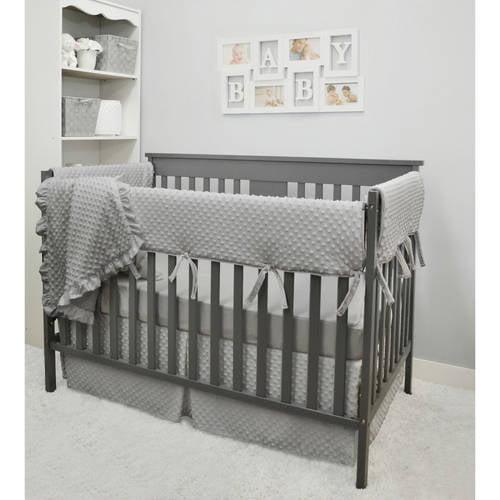 American Baby Company Heavenly Soft 6 Piece Crib Rail Bedding Set, Grey, for Boys and Girls