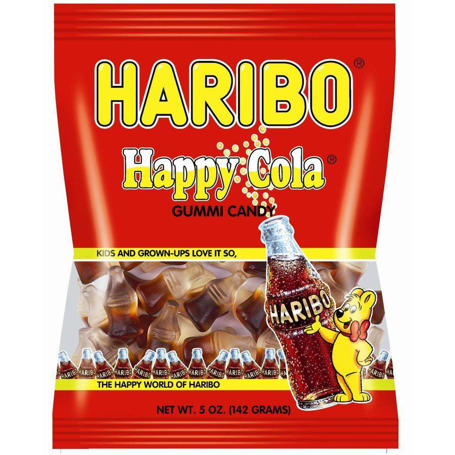 Haribo, Happy Cola Gummy Candy, 5 Oz (Pack Of 6)