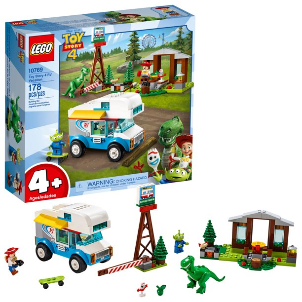 LEGO 4+ Toy Story 4 RV Vacation Building Set 10769 with Jessie & Rex Dinosaur Minifigure