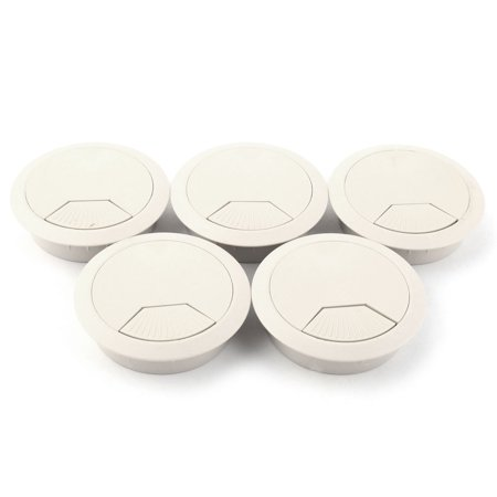 Desktop Computer Rotation Openning Round Grommet Cable Hole Cover 53mm Dia 5pcs - image 2 of 2