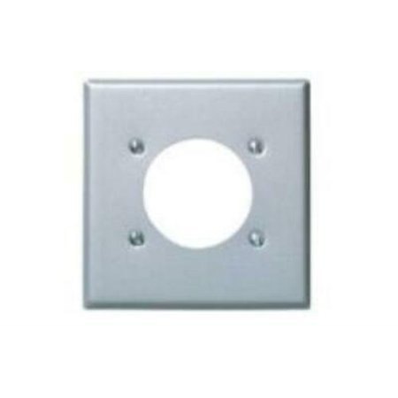 LEVITON 4PK 4934 GY 2 Gng Outlet Plate