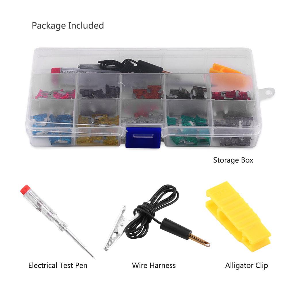 100pcs Car Micro Mini Blade Fuse 3//4//5//7.5//10//15//20//25//30//35A Test pen
