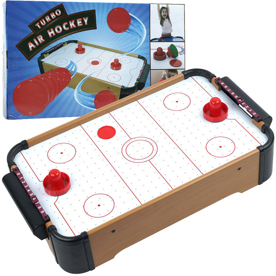 Trademark Games Mini Table Top Air Hockey with Accessories