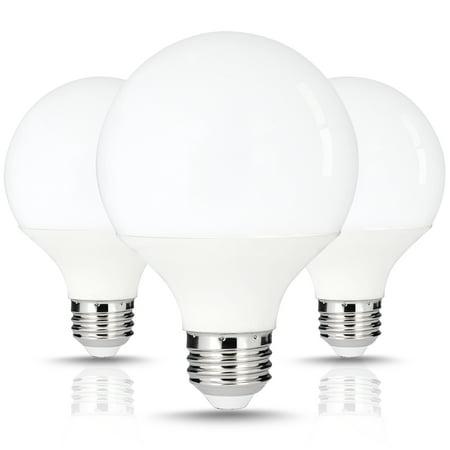 LED G25 Vanity Light Bulbs, Round, Daylight White(5000K), 9W LED