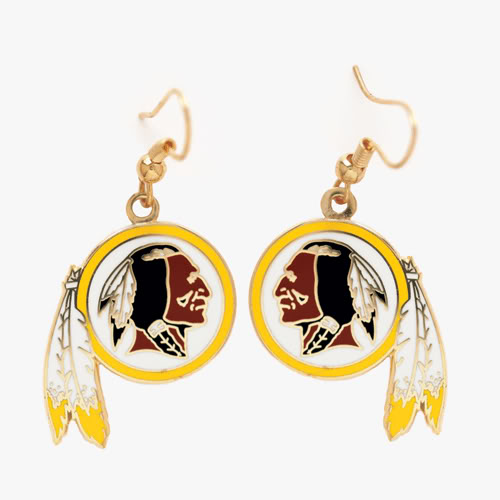 Washington Redskins Dangle Earrings