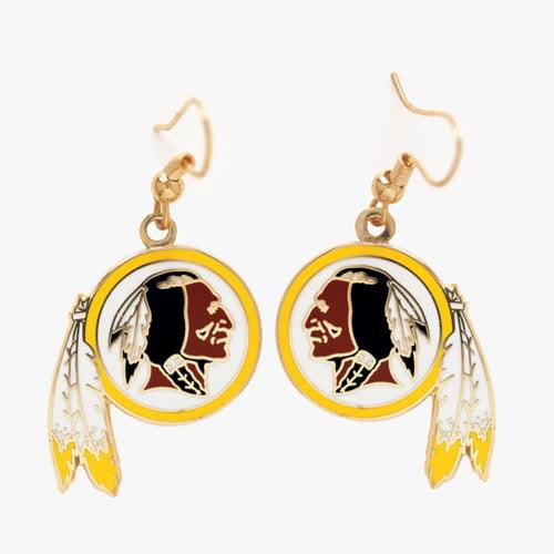 Washington Redskins Dangle Earrings