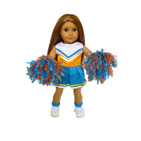 My Brittany's Blue and Orange Cheer for American Girl Dolls- Shoes and Socks are not - Cheer Shoes Under $20