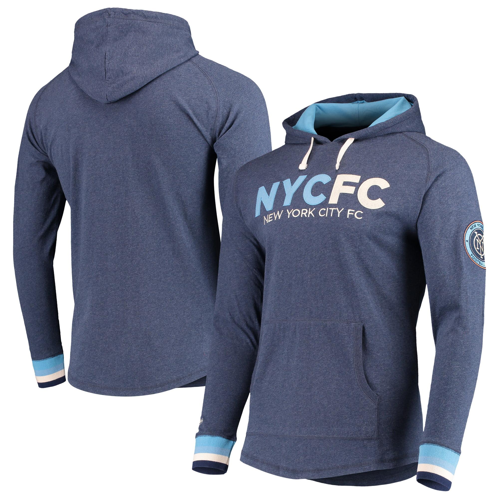 New York City FC Mitchell & Ness Lightweight Pullover Hoodie - Heathered Blue