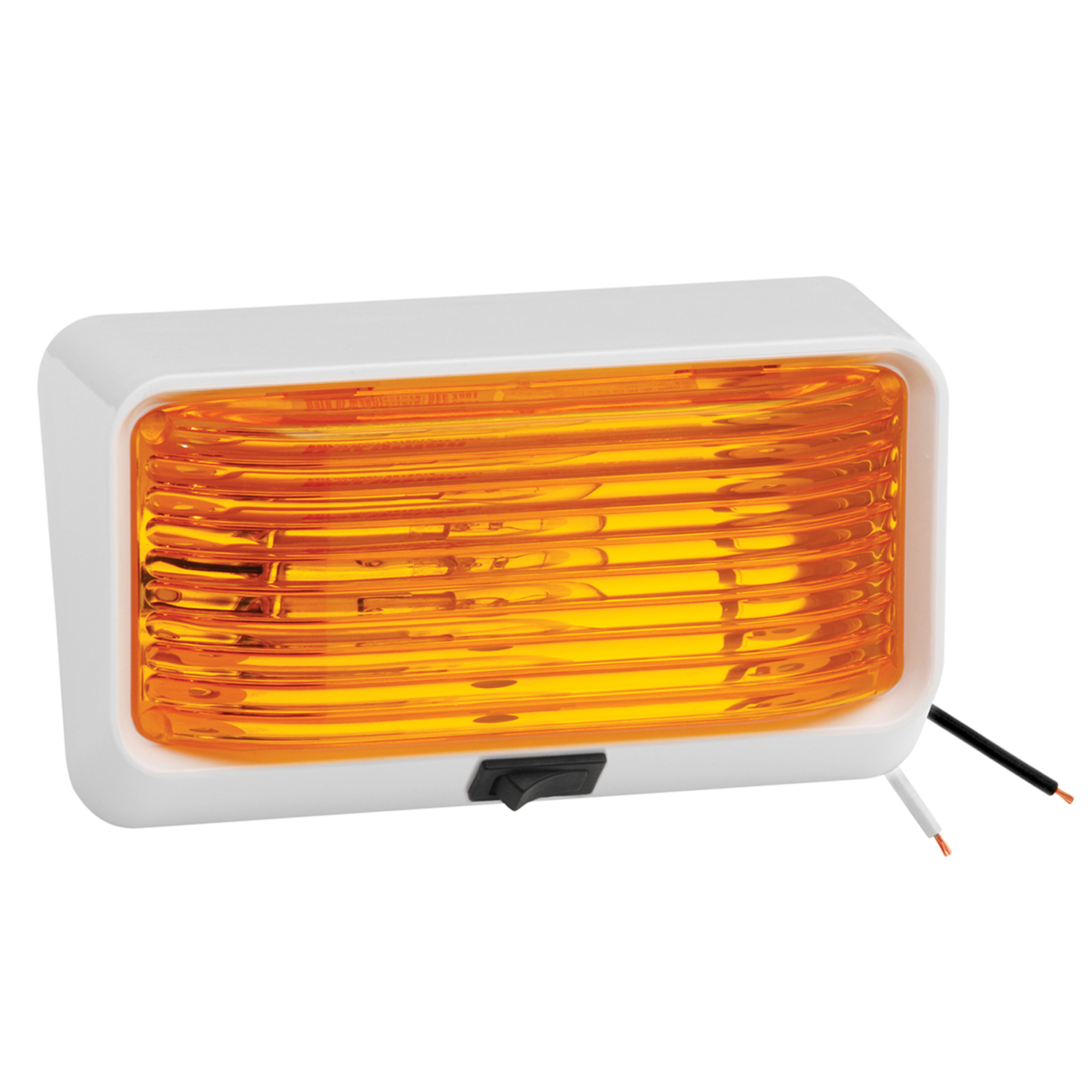 Bargman 34-78-518 Porch Light #78 Amber with White Base by Bargman