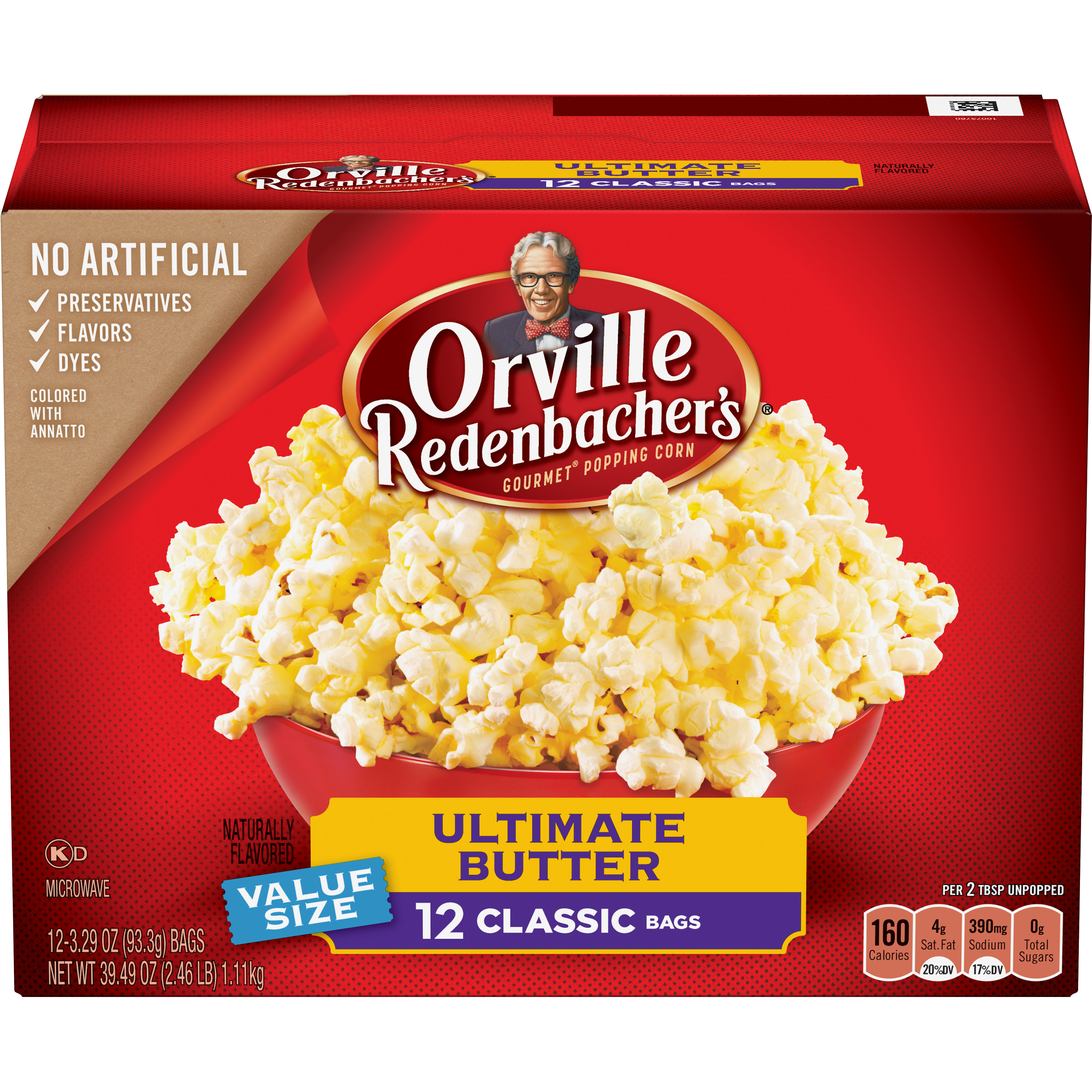 Orville Redenbacher's Ultimate Butter Popcorn, Classic Bag, 12-Count