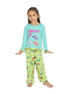 Komar Kids Girls Pajama Toddler Sleepwear Graphic Shirt and Lounge Pants Set Size 2-4, Dogs, Size: 2T