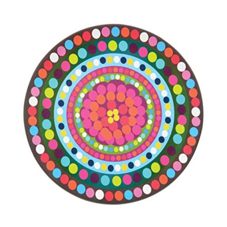 French Bull - Melamine Serving Platter - 15-1/2-Inch Round Serving Tray - for Indoor and Outdoor Entertaining - Bindi ()
