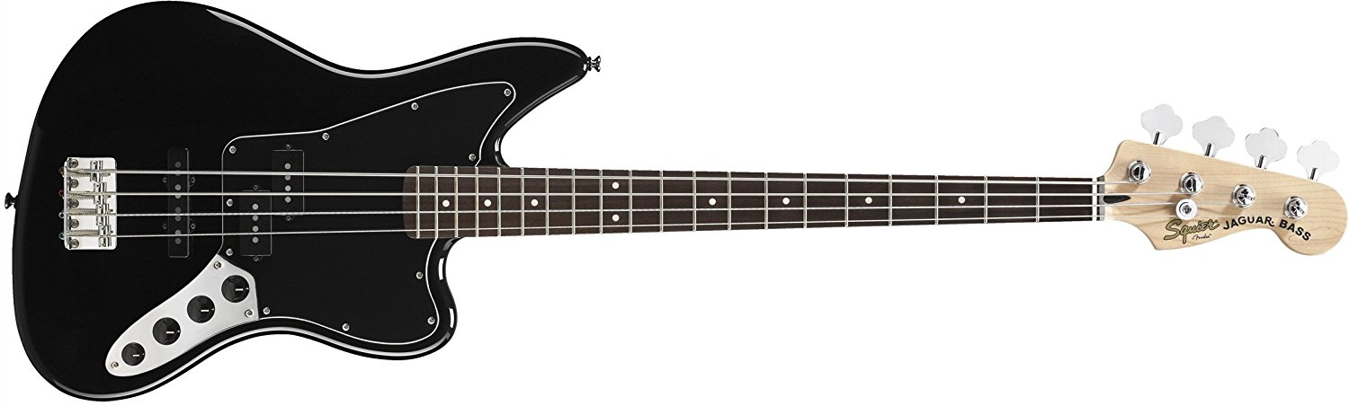 Fender Squier Vintage Modified Jaguar Bass Special Electric Bass Guitar Black by Fender Squier