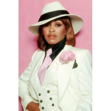 Tina Turner Fedora Hat Stylish Outfit Fedora Hat White Jacket 1985 24X36 Poster