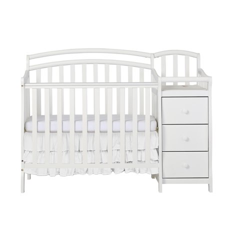 Dream On Me Casco 4 In 1 Mini Crib And Dressing Table Combo