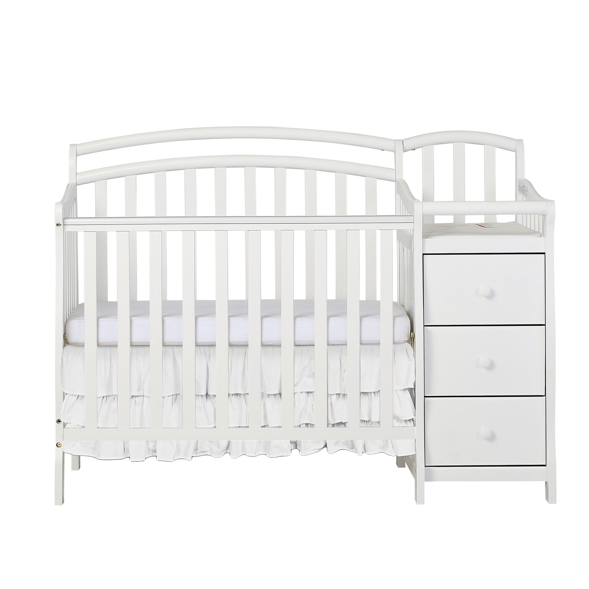 Dream On Me Casco 4 In 1 Mini Crib And Dressing Table Combo, White    Walmart.com