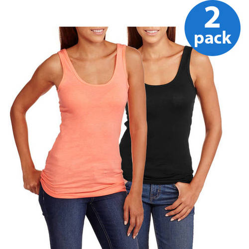 No Boundaries Juniors Plus Scoop Neck Tank 2 Pack