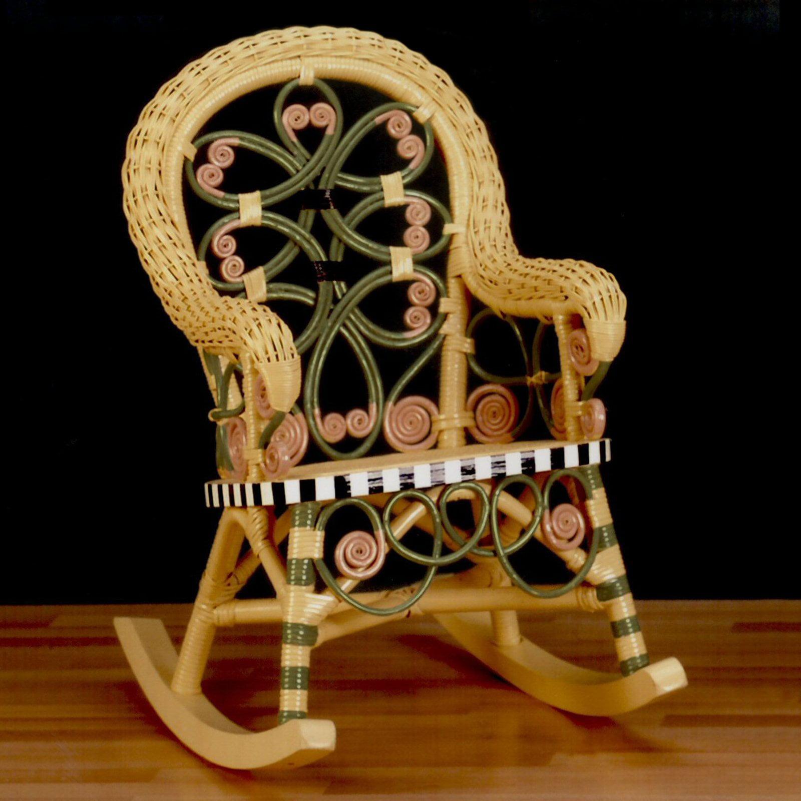 Victorian Wicker Childs Rocking Chair