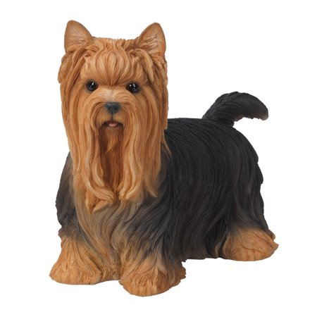 16 Tall Life Size Long Hair Yorkie Terrier Figurine Statue