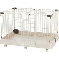 "Iris Portable Wire Dog Cage, Brown, Medium, 36.01""L x 25.04""W x 23.74""H"