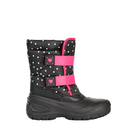 Wonder Nation Polka Dot Hearts Two Strap Snow Boot (Little Girls and Big Girls)