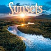 "2021 Sunsets Mini - 7"" x 7"" Calendar"