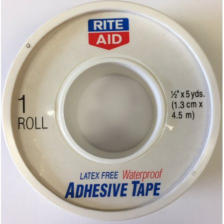 Rite Aid Latex Free Waterproof Adhesive Tape 1 2 Inch Roll  Pack Of 12