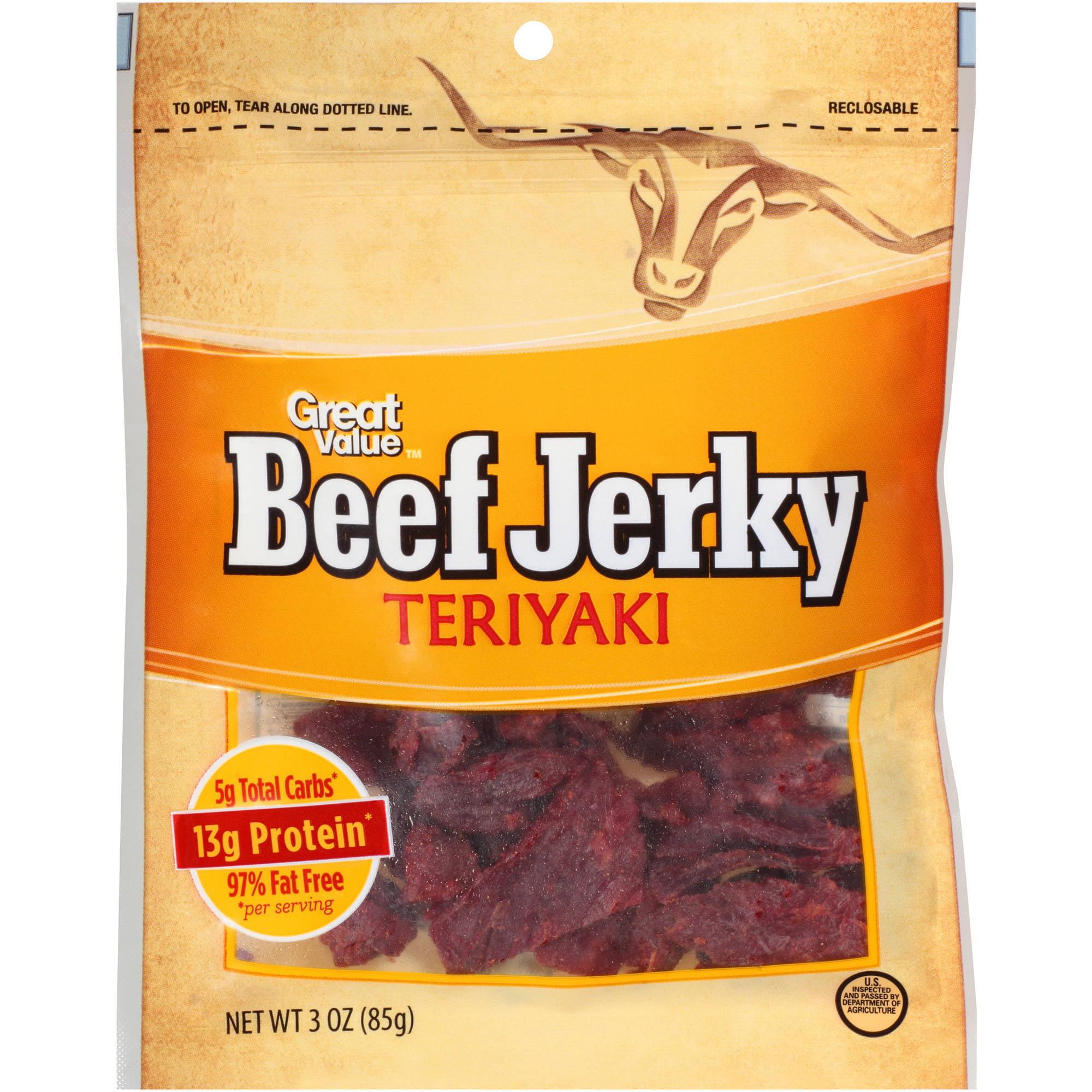Great Value Teriyaki Beef Jerky, 3 oz by Generic