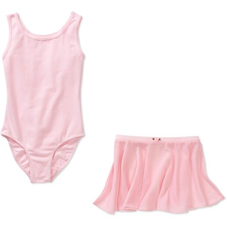 Girls' Sleeveless Dance Leotard and Skirt 2-Piece Set - Girls Leotard