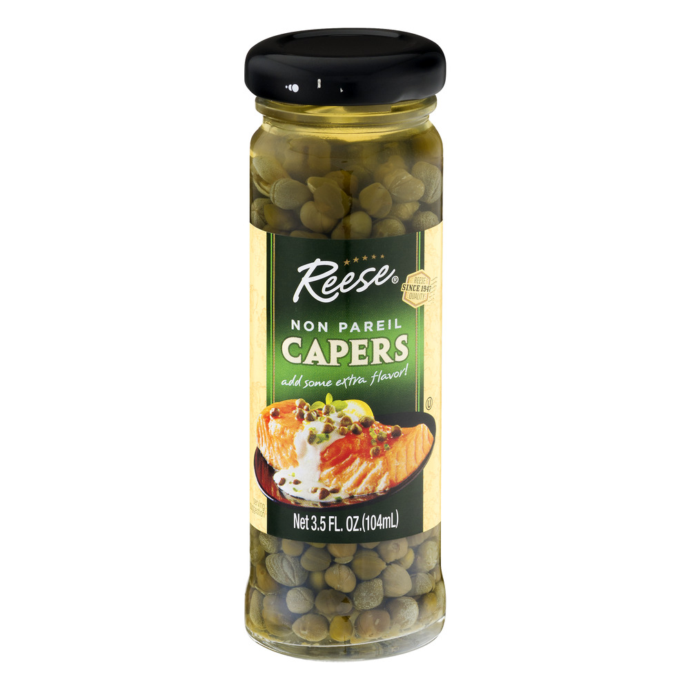 Reese Non Pareil Capers, 3.5 fl oz by World Finer Foods, Inc.
