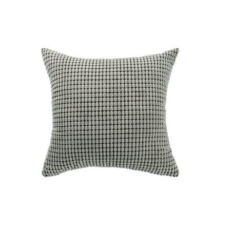 "Sofa Cushion Cover Striped Corduroy Throw Toss Pillow Case Shell 20"" Grey - image 7 de 7"