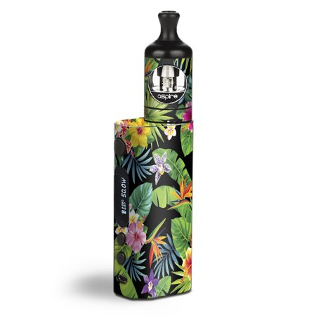 Tropicals Kit (Skin Decal Vinyl Wrap for Aspire Zelos 50W starter Kit Vape stickers skins cover / tropical flowers pineapple hibiscus hawaii )
