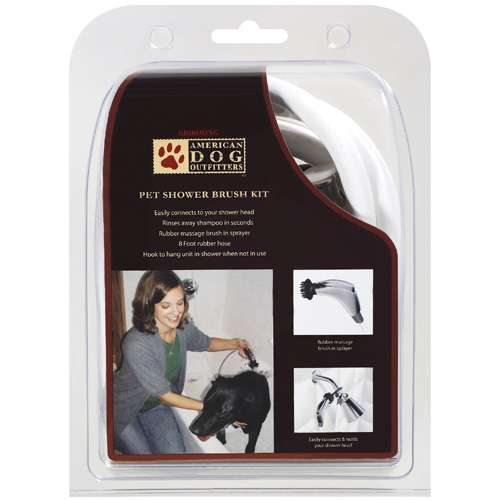 American Dog Outfitters: Pet Shower Brush Grooming Kit, 1 kt