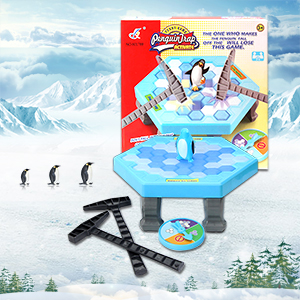 None Gifts Puzzle Table Games Balance Ice Cubes Save Penguin Icebreaker Beating Interactive Desktop Party Games (38 pcs ices)