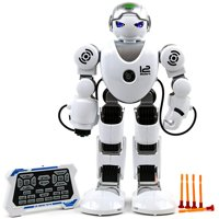 Toysery Remote Control Robot Toy For Kids - RC Robot Toy with Colorful LED Flashing Lights and Walking Shoot Music Dance Arm-swing