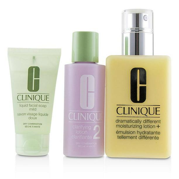 Clinique Clinique 3 Step Skin Care System Skin Type 2 Ddml 200ml Clarifying Lotion 2 60ml Liquid Facial Soap Mild 30ml 3pcs Walmart Com Walmart Com