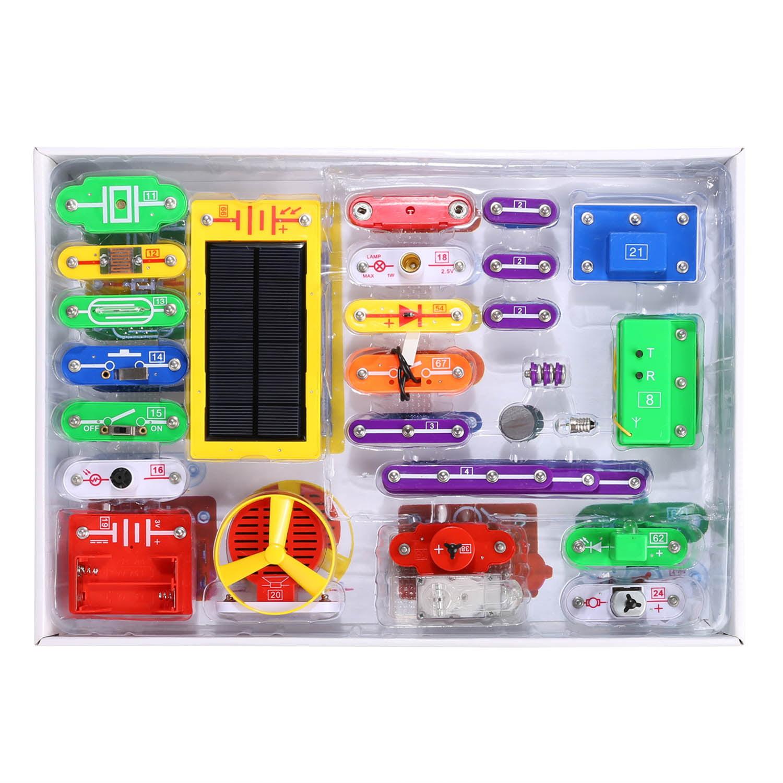 41 pcs Circuits Smart Electronic Block Set Kids Educational Science Toy Kit HITC