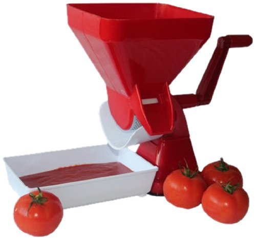 Tomato Strainer- Juicer Food Mill for Easy Purees- No Coring, Peeling or Deseeding by