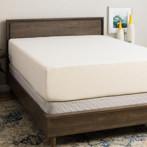 select luxury medium firm 14inch full size memory foam mattress and foundation set