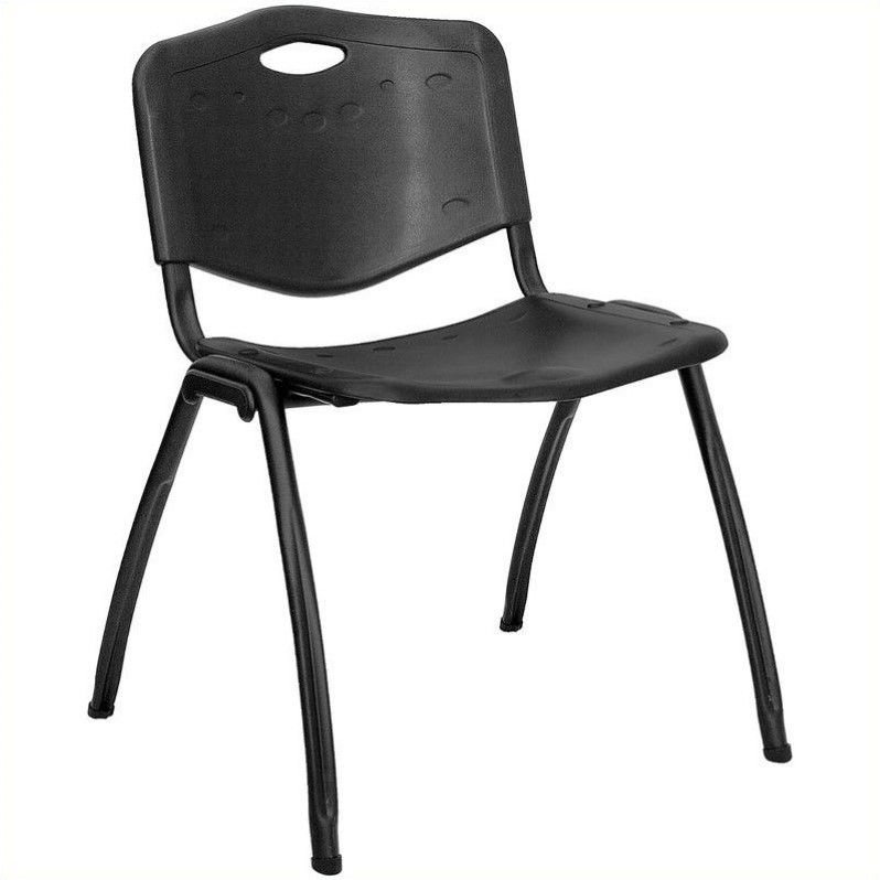 Flash Furniture Hercules Polypropylene Stacking Chair in Black - image 4 of 4