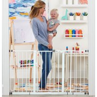 Regalo 56-Inch Extra WideSpan Walk Through Baby Gate, Bonus Kit, Includes 4-Inch, 8-Inch and 12-Inch Extension, 4 Pack of Pressure Mounts and 4 Pack of Wall Cups and Mounting Kit