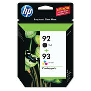HP 92 Black & HP 93 Tri-color Original Ink, 2 Cartridges (C9513FN)